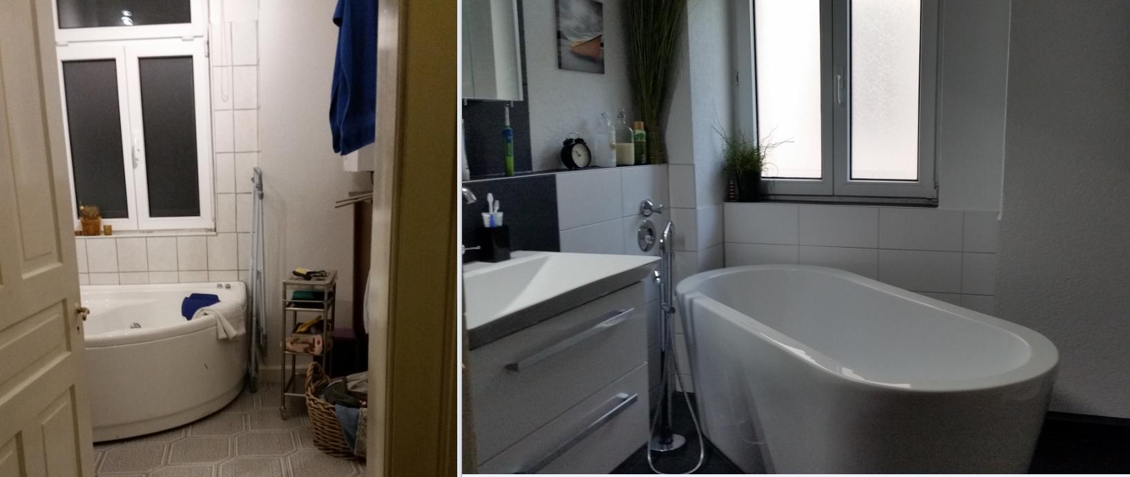 bad vorher nachher badezimmer renovieren vorher nachher awesome perfekt marco ludwig er bad. Black Bedroom Furniture Sets. Home Design Ideas