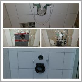 Hänge WC Wasserschaden