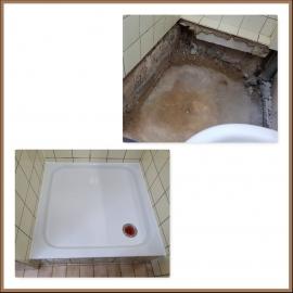 Wasserschaden Duschwanne