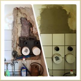 Wasserschaden Küche Wand