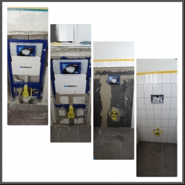 Wasserschaden WC Rückwand PH